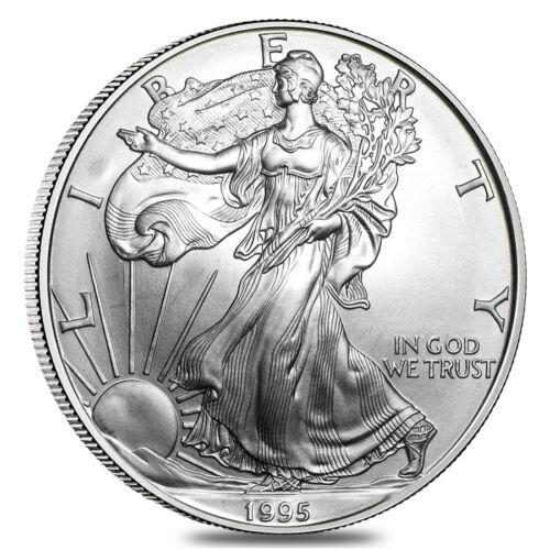 1995 1 oz Silver American Eagle Abrasions