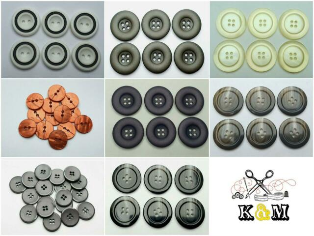 4 St Knopf Knöpfe knopf Kunststoff 30mm Farbe Schwarz Gold Hohe Qualität
