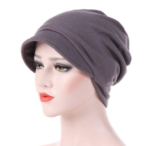 Eg /_ Damen Winter Baumwolle Einfarbig Barett Mütze Warm Herbst Turban Hut Neu