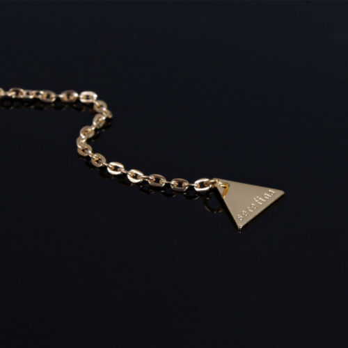 Wholesale Classic Gold Plated Long Chain Triangle Pendant Necklace Fashion Jewel