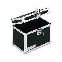 Vaultz Locking Index Card File With Flip Top Holds 450 4 X 6 Cards Black Vz01171 on sale