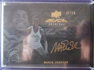 2013-14-UD-Black-GOLD-AUTOgraph-MAGIC-JOHNSON-L-A-Lakers-ed-75-SP-2014-UD