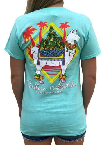 Southern Attitude Seafoam Preppy Pineapple Llama T-Shirt