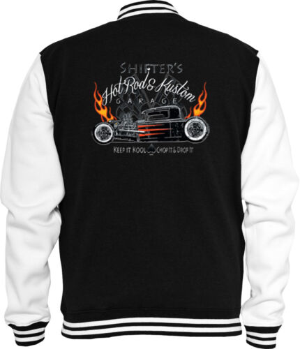 HOT Rod SWEAT COLLEGE Giacca shifters vintage Rat Rod Rockabilly