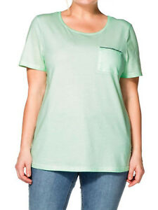 Ladies/' Pure Cotton Crew Neck T Shirt Top Plus Size 22-24 KHAKI GREEN by Evans