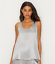 US X-Large PJ Harlow DARK SILVER Laura Satin Tank