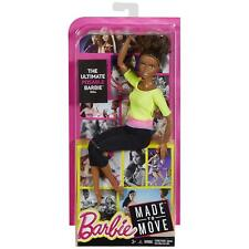 2016 Barbie Made to Move With Yellow Top Posable Doll AA Nikki Yoga DHL83 Mattel