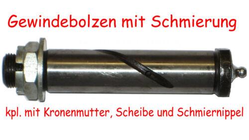 GEWINDEBOLZEN 25x130mm aus C45 gehärtet mit Schmierung