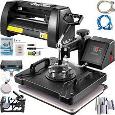 8 In 1 Heat Press 12x15 Sublimation Machine 14 Vinyl Cutter Cutting Plotter
