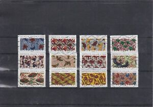 FRANCE-2019-TISSUS-INSPIRATION-AFRICAINE-SERIE-COMPLETE-DE-12-TIMBRES-OBLITERES