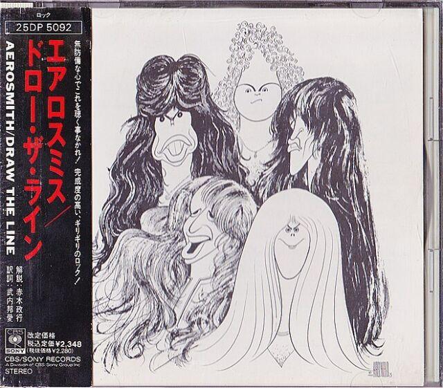 Aerosmith Draw The Line Japan Cd 25dp 5092 Obi For Sale Online Ebay