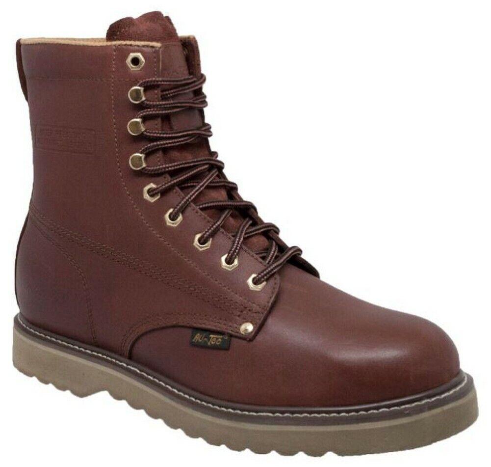 botas para hombre 8  Granja AdTec Cuero Lace Up Work bota rojowood 1311