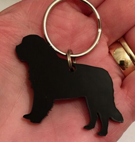Saint Bernard Dog Keyring Lanyard Keychain Bag Charm Zipper Charm Gift In Black