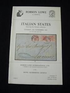 ROBSON-LOWE-AUCTION-CATALOGUE-1980-ITALIAN-STATES-039-KOTZIAN-039-COLLECTION