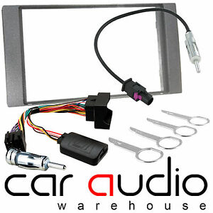 Ford Fiesta Focus Transit Car Stereo Double Din Fascia Panel Dark GREY CT24FD20