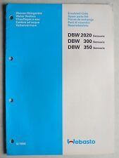 WEBASTO Wasser-Heizgeräte DBW Sensoric: 2020/300/350  Ersatzteilliste, 6.1988