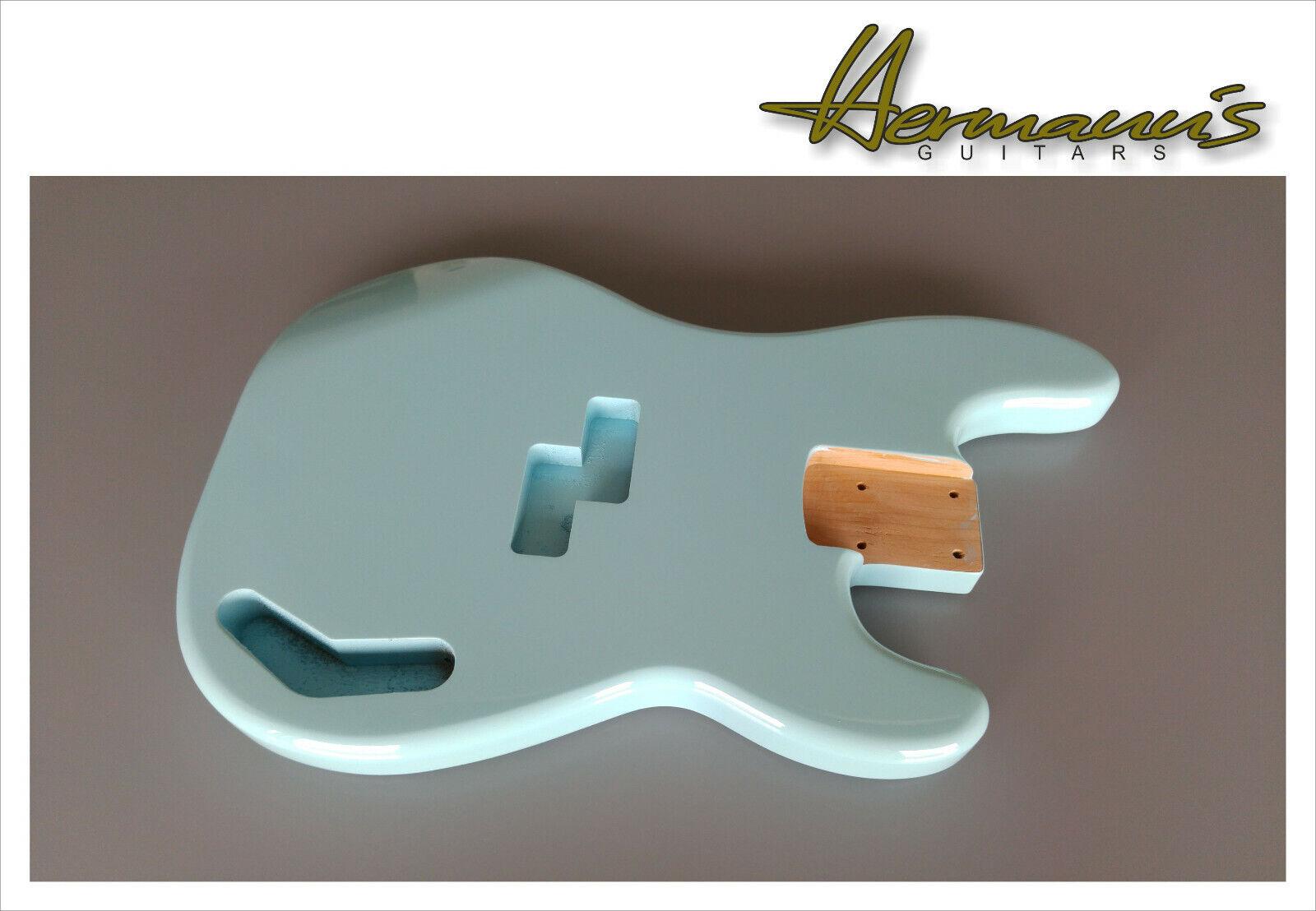 Precission Bass Erle Body, Preci Bass Alder Body, Finish High Gloss Daphne Blau