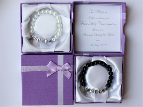 First Holy Communion gift First Communion Confirmation Personalised bracelet