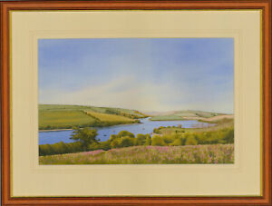 Stuart-James-Signed-amp-Framed-1998-Watercolour-Percuil-River