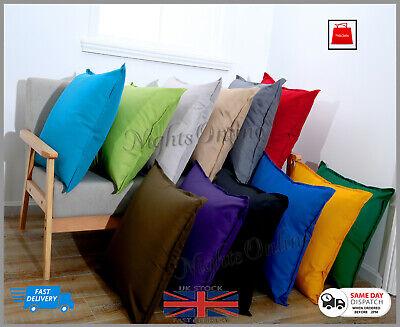 New Plain Indoor Outdoor Waterproof Garden Furniture Cushions Covers 2 Sizes Ebay