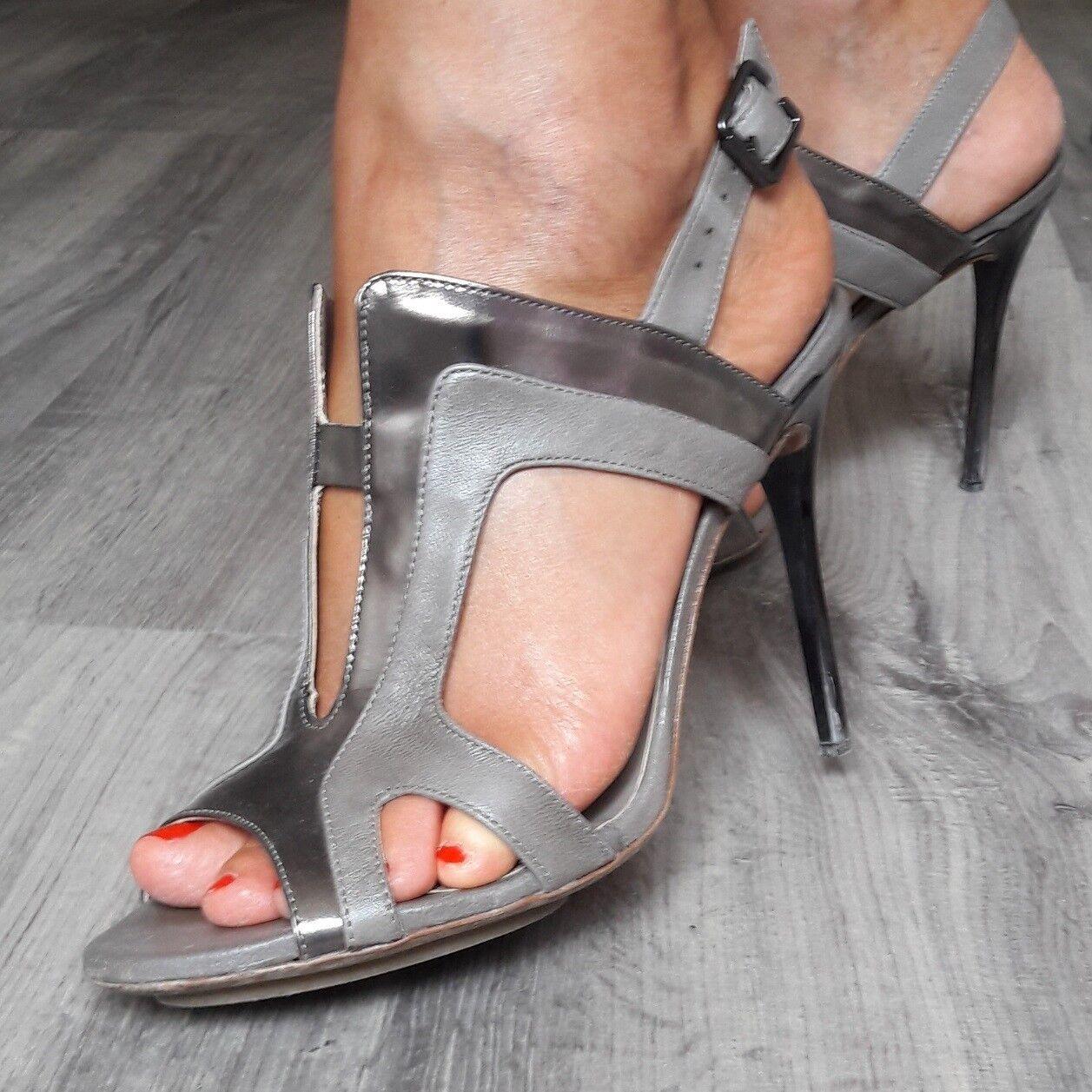 Sandali donna Ixos CLOEE/CAPSELLA colore grigio+canna fucile n. 39 tacco 11 cm