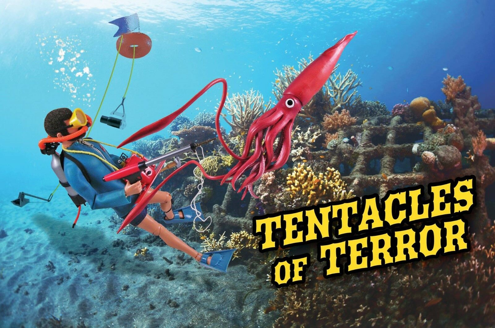 "1 6 12"" GI Joe Tentacles of Terror Scuba Deep Sea Diver Elite Brigade Cotswold"