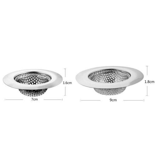 Durabke Silver Stainless Steel Kitchen Round Sink Strainer Sink Filter HA