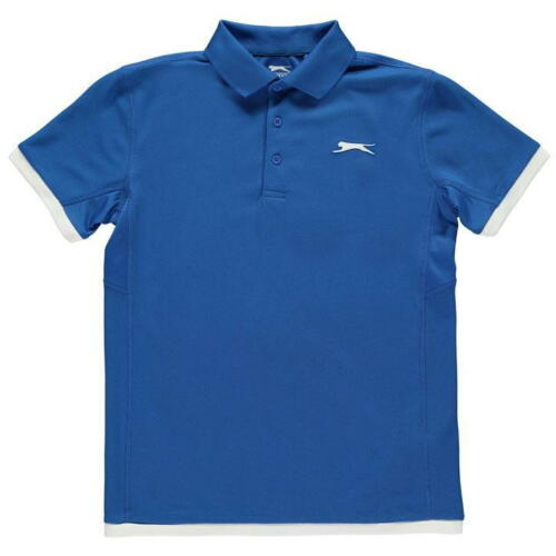 Boys Slazenger Lightweight Court Polo Shirt Top Sizes Age 7-13 Yrs