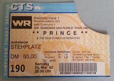 PRINCE DIAMONDS AND PEARLS TOUR DORTMUND Ticket 1992
