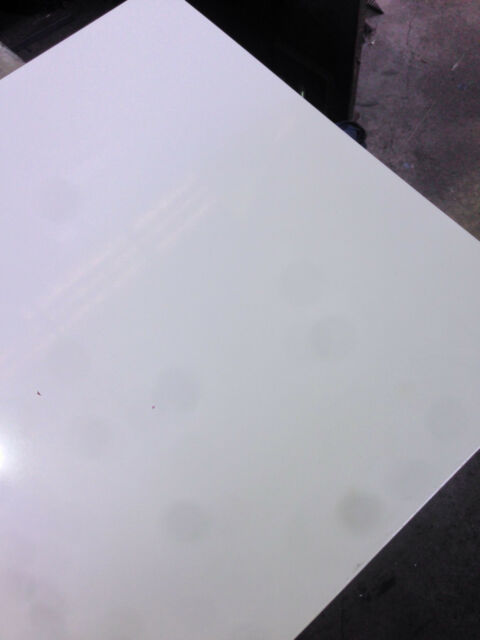 SIGN WHITE STEEL SHEET PLATE 380mm X 300mm X 0.55mm