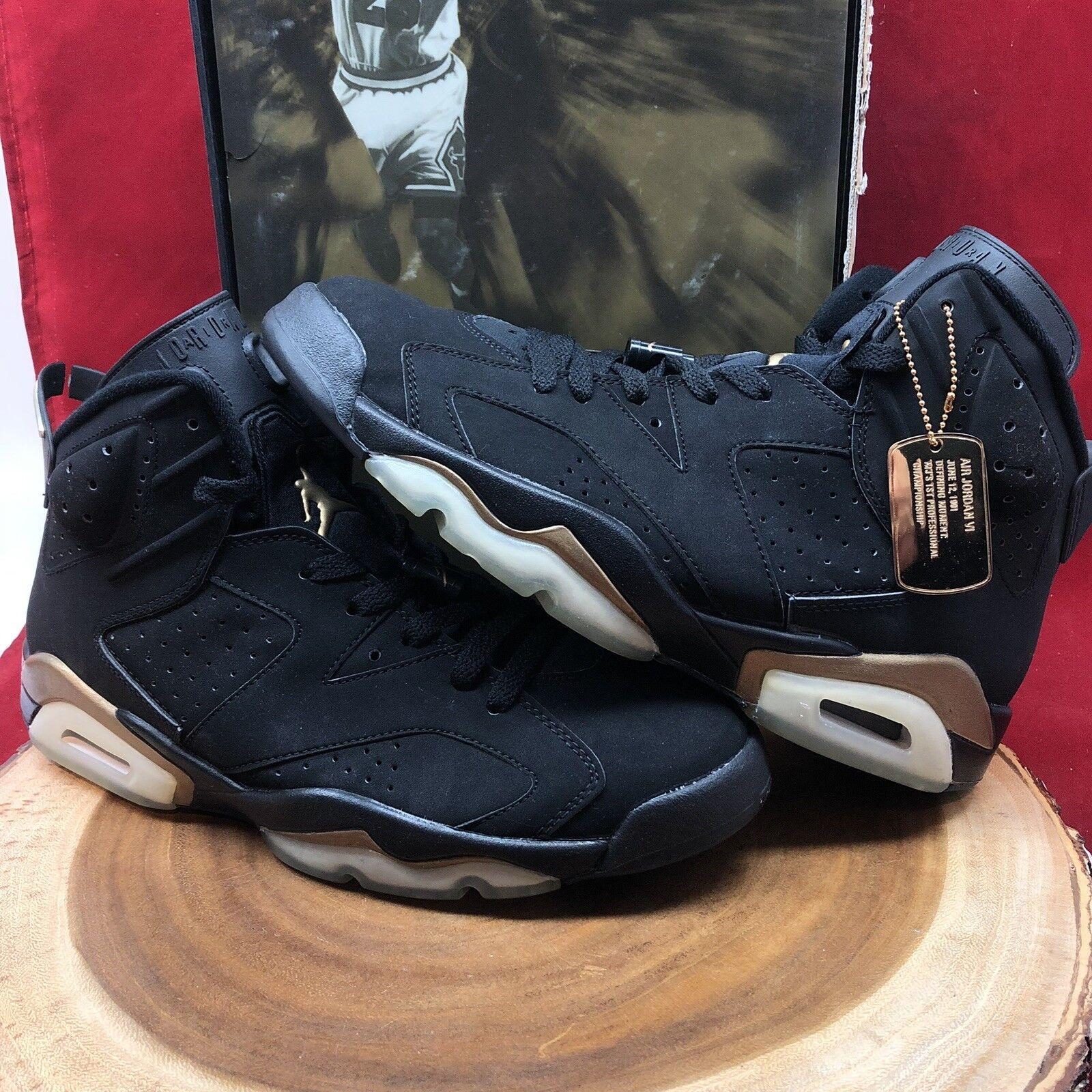 Nike Air Jordan Retro VI DMP Defining Moments Black gold Size 10.5 136038 071 XI