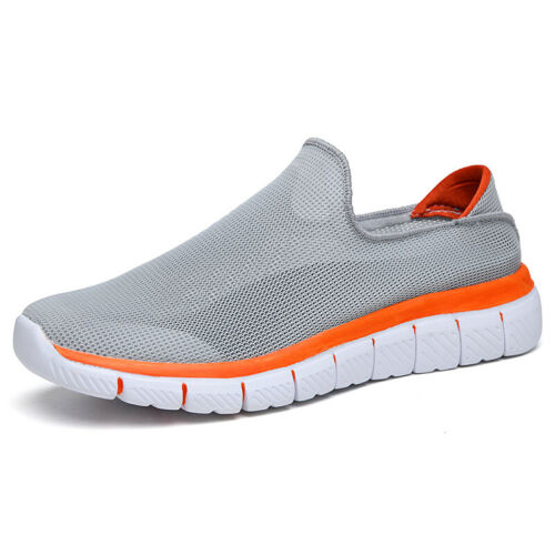 Mens Fashion Sneakers Shoes Mesh Breathable Slip on Sports Outdoor Running New B