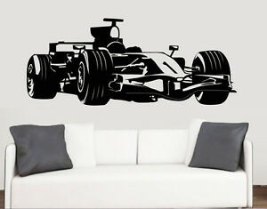 Formula Car Silhouette Wall Art Stickers F Racing Racer - Formula 1 wall decals
