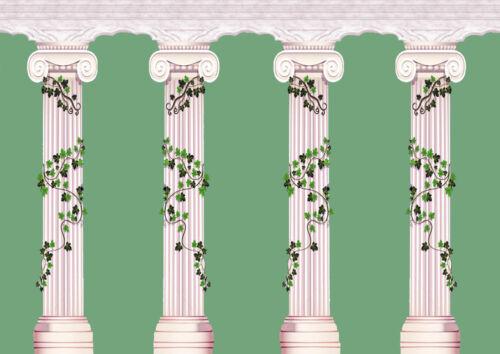 Casa De Muñecas Wallpaper 1//12th 1//24th Escala Verde Papel de calidad # 267