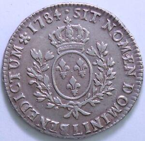 FRANCE-LOUIS-XVI-ECU-AUX-BRANCHES-D-039-OLIVIER-1784-L