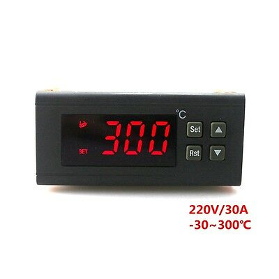 Digital Temperature Controller Thermostat RC-114M AC220V 30A Red LED 2m Sensor
