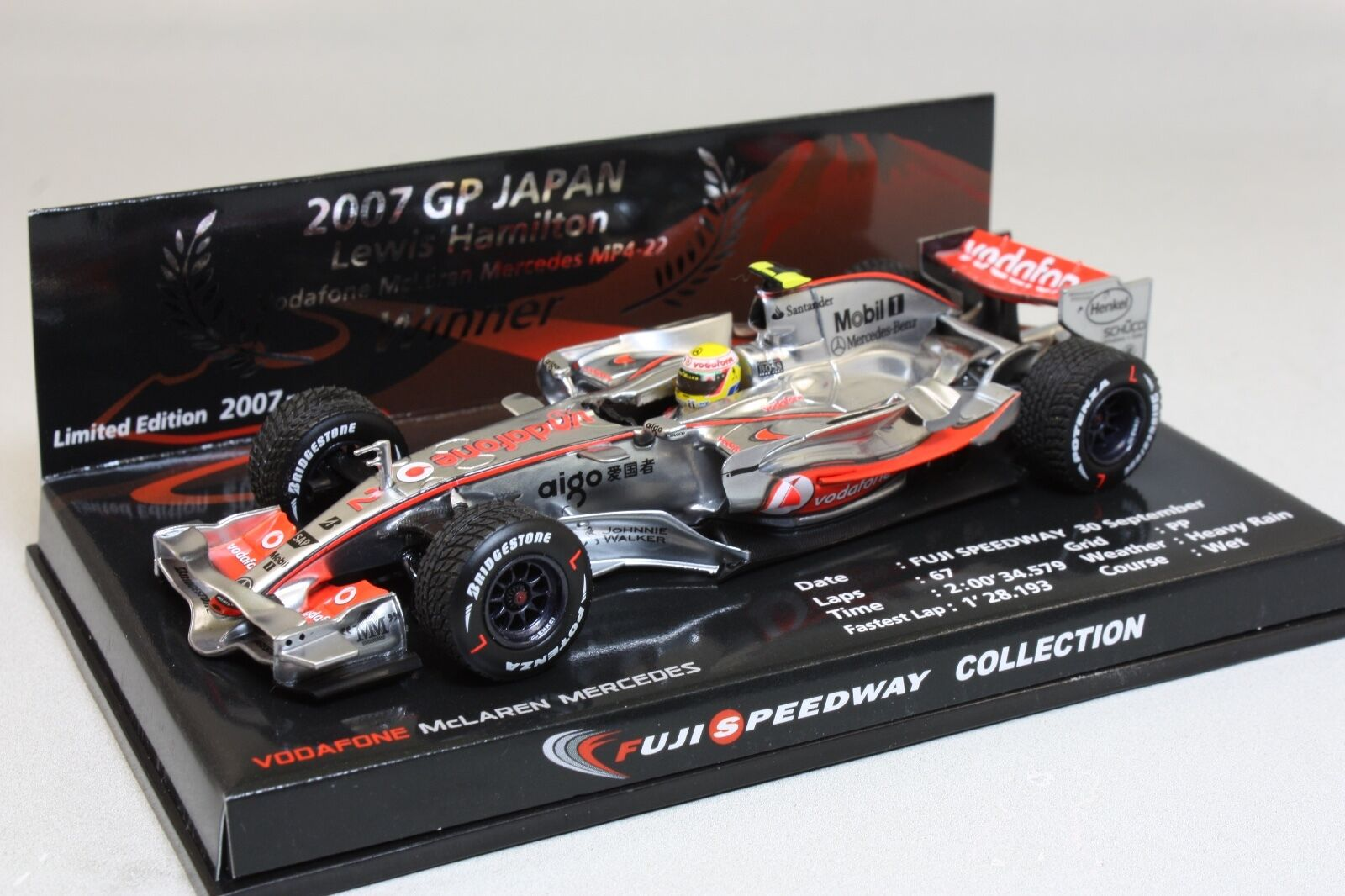 Lewis Hamilton McLaren Mercedes MP4-22 1 43 Fuji Speedway collection 2007