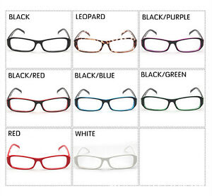 26e1c08f4a96 Image is loading Retro-Classic-Vintage-Rectangle-Style-Clear-Lens-Glasses-