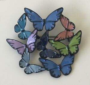 Unique-butterfly-brooch-pin-enamel-on-metal
