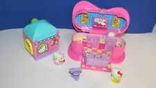 Hello Kitty Sanrio Cooking show ice cream shop playset figures lot accessory set