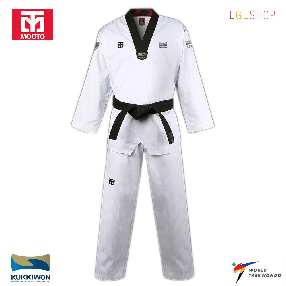 Mooto BS4.5 KUKKIWON Official Taekwondo Uniform WTF Dan Dobok TKD Martial Arts