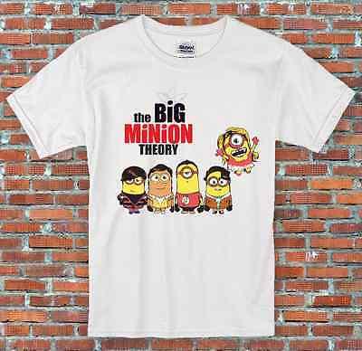"""""""la Teoria Del Big Minion"""", Divertente, Fresco, Classic, T-shirt S-2xl-t S-2xl It-it Mostra Il Titolo Originale Prezzo Basso"""