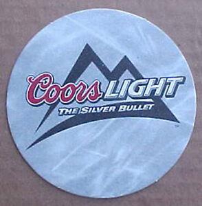 COORS-LIGHT-THE-SILVER-BULLET-Beer-COASTER-Mat-Golden-COLORADO