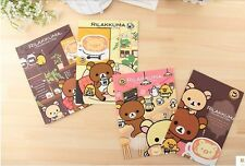 New Kawaii San-X Rilakkuma A4 File Folder- 4 of Set