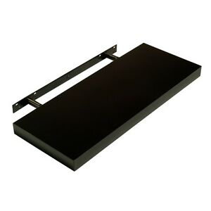 Image Is Loading Hudson High Gloss Black Floating Shelf Wall Mounted