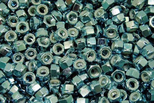 3,000 Nyloc 5//16-18 Hex Locking Nuts Coarse Zinc Nylock BULK