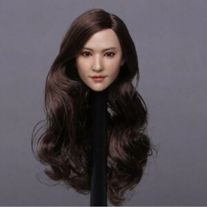 """1//6 Europe Beauty Head Sculpt Long Curly Hair For 12/"""" PHICEN Hot Toys Figure"""