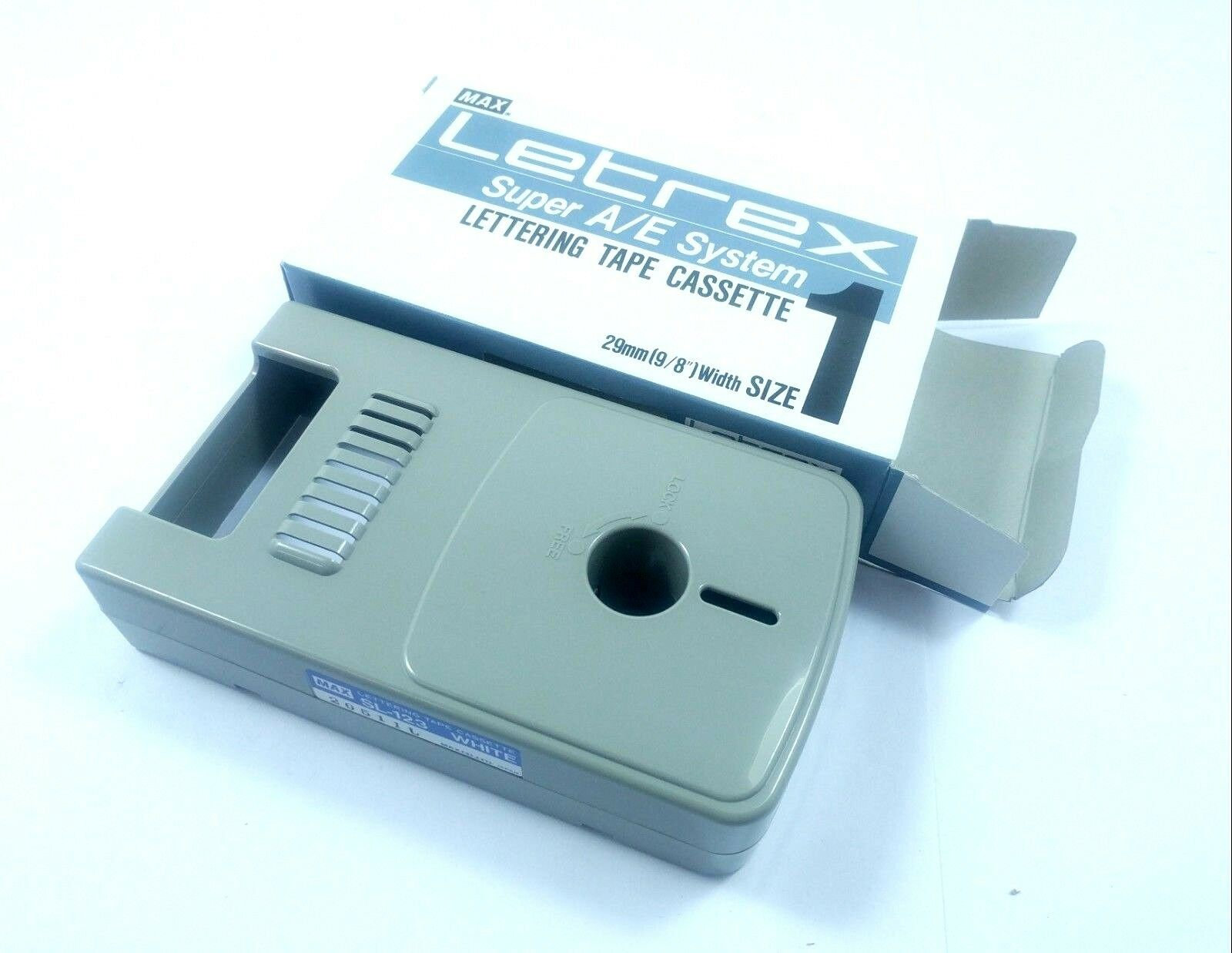 4x New MAX SL-123 Leterx Super A E System Lettering Tape Cassette