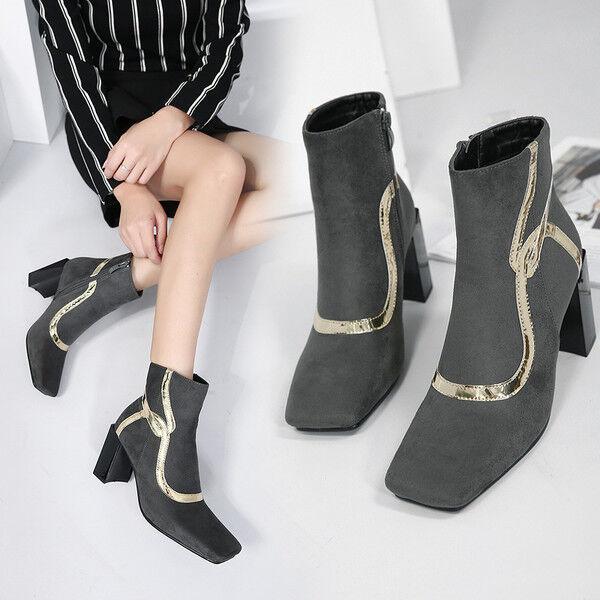 stivali stivaletti bassi  stiletto 8 cm caviglia grigio comodi simil pelle 9577