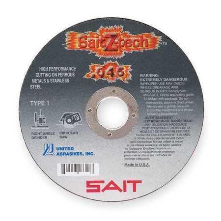 "UNITED ABRASIVES-SAIT 23325 CutOff Wheel,Z-Tech,5/""x.045/""x7//8/"""